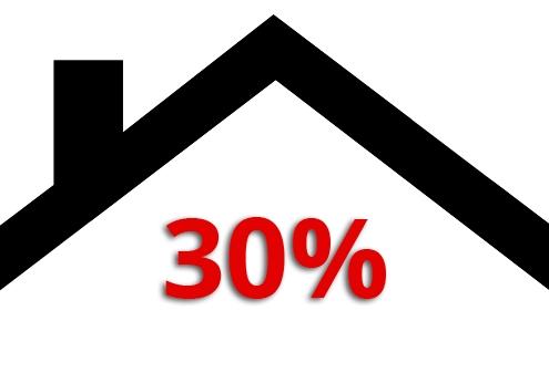 30% Stadstak